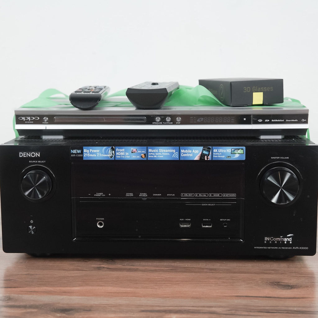 Denon / Oppo Denon AVR-X3000 THX Certified 7.1 AV Receiver and Oppo DV-970HD DVD Player