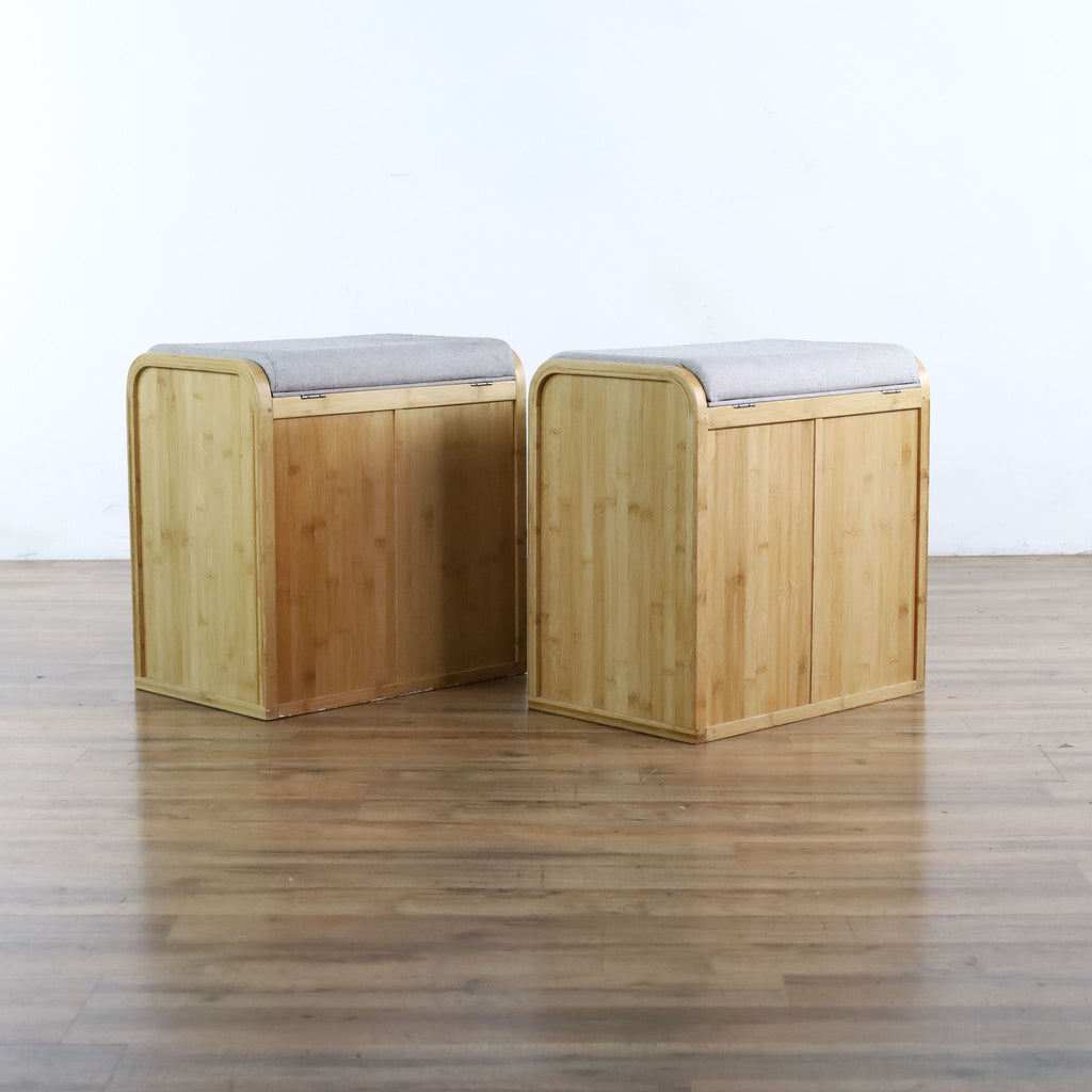 Wooden Stools with Storage
