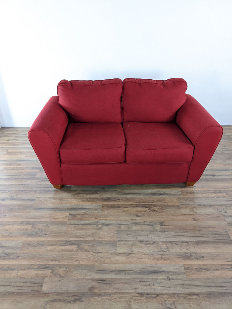 Red Upholstered Loveseat