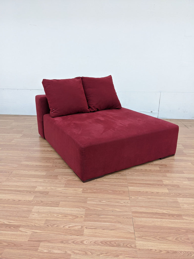 Bontempi Divani Red Upholstered Chaise
