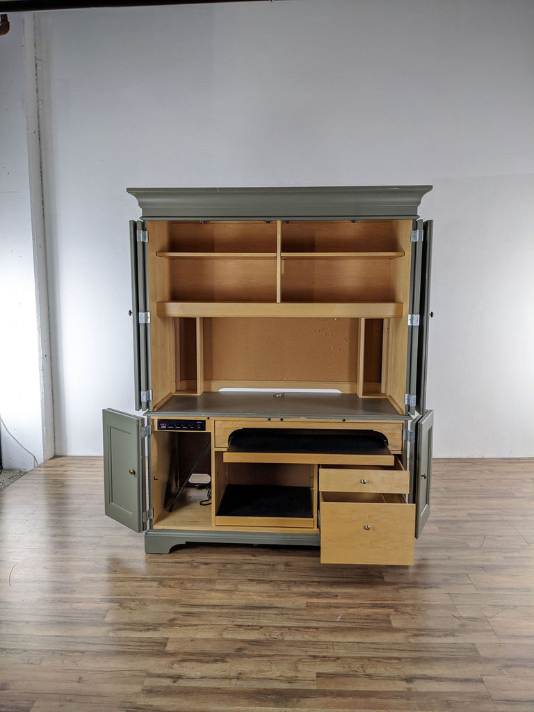 Furniture Green Computer Armoire