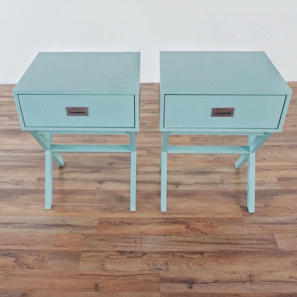 Pair of Cobb End Tables with Storage