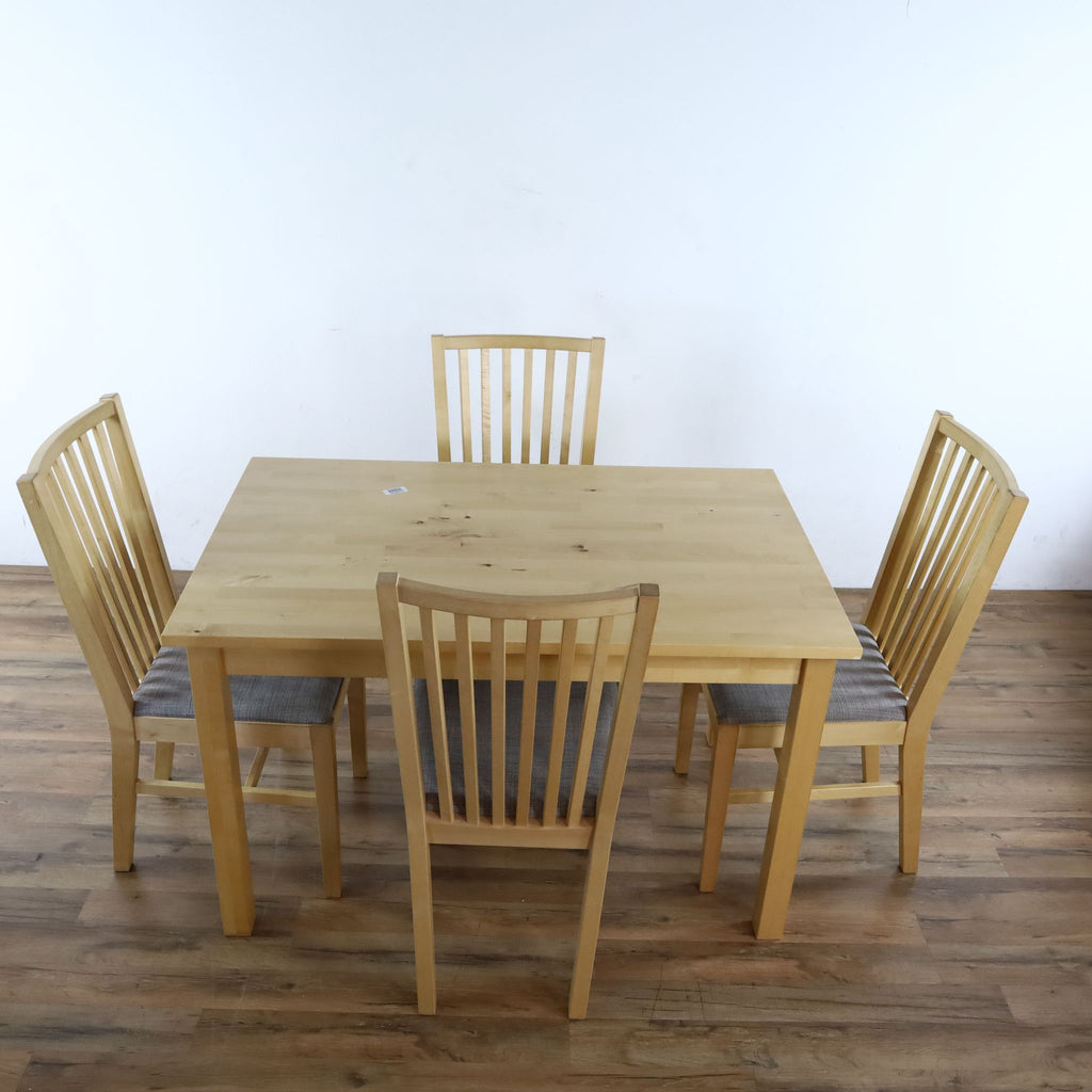 Ikea Ivar Table with Four Norrnas Chairs