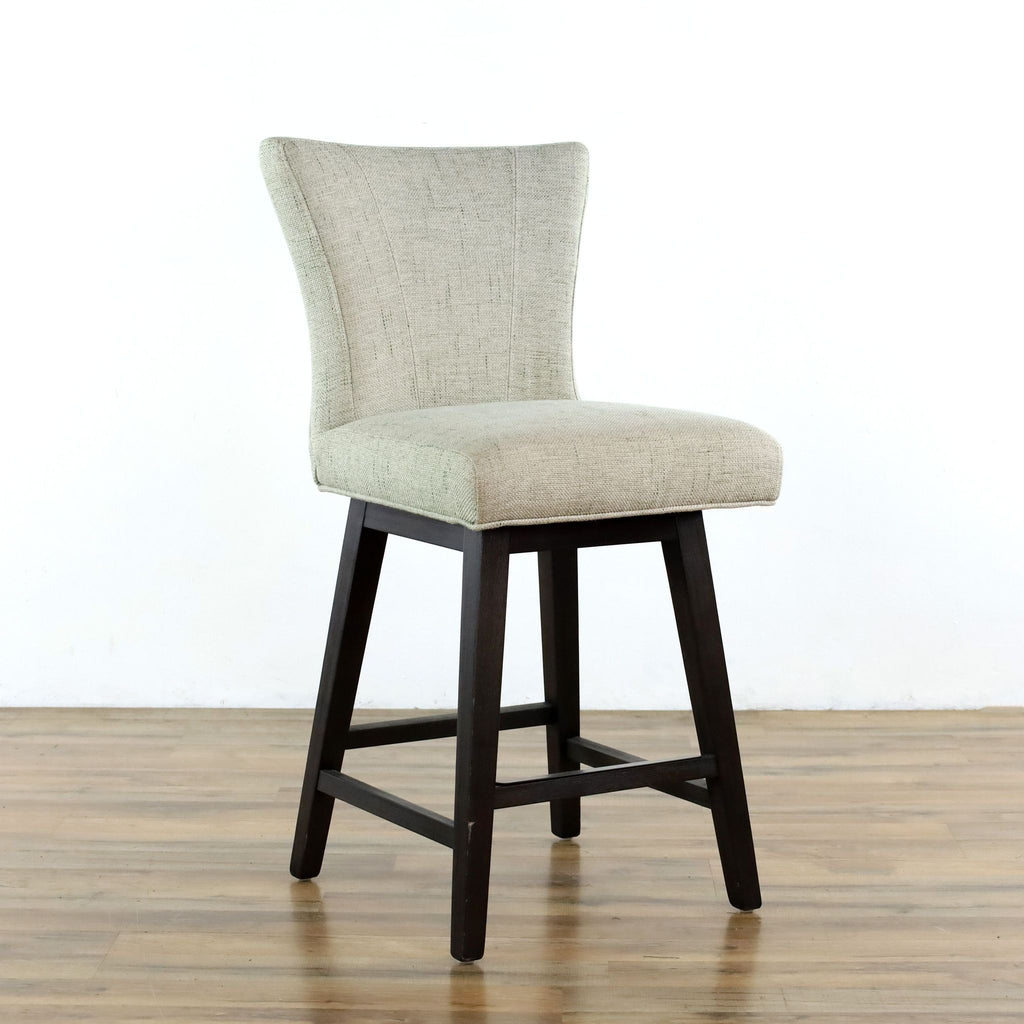 Gray Upholstered Stool