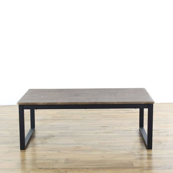 Aingoo Rustic Industrial Coffee Table with Metal Frame