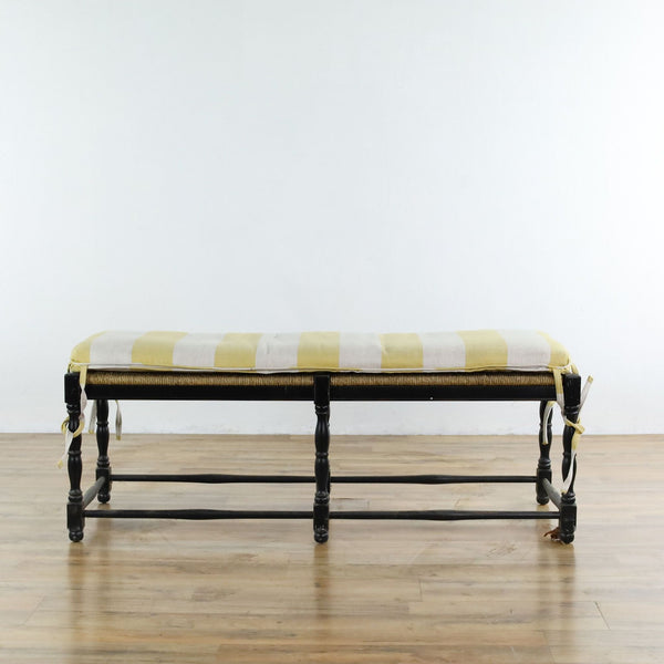 Ballard Designs Bench with Custom Cushion