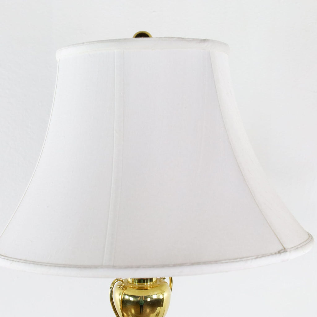 Gold Metal Table Lamps with White Shade