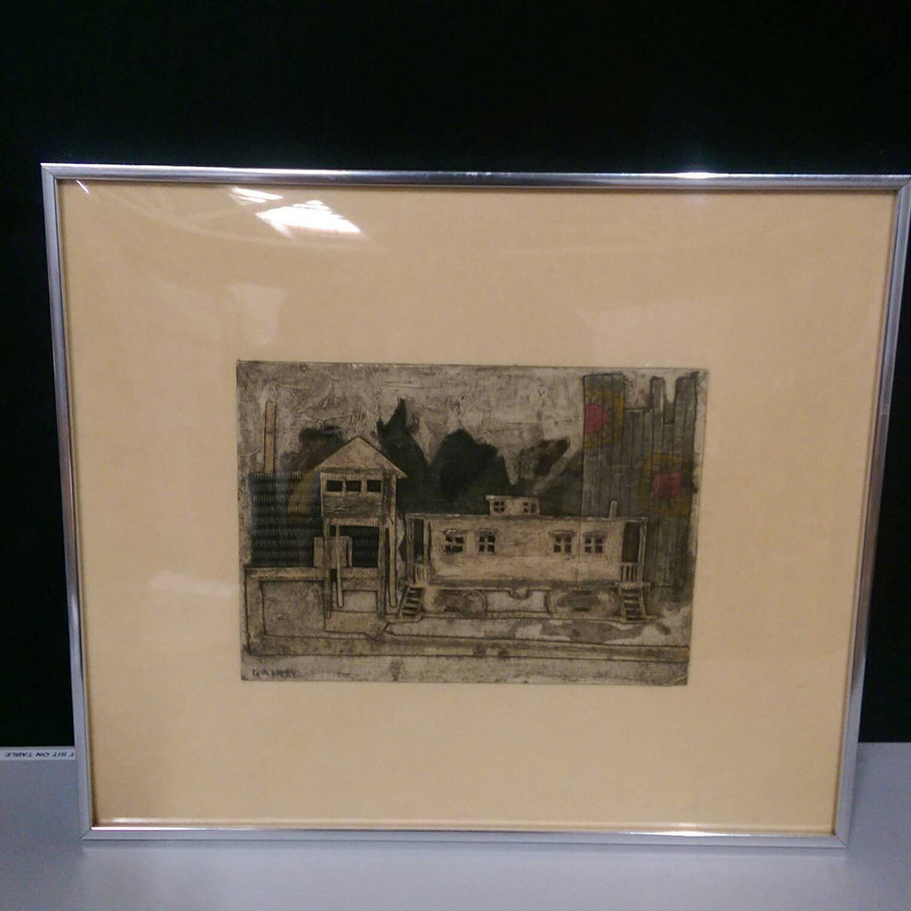 Mary Dainty (American, 20th Century) Mixed Media Railway scene
