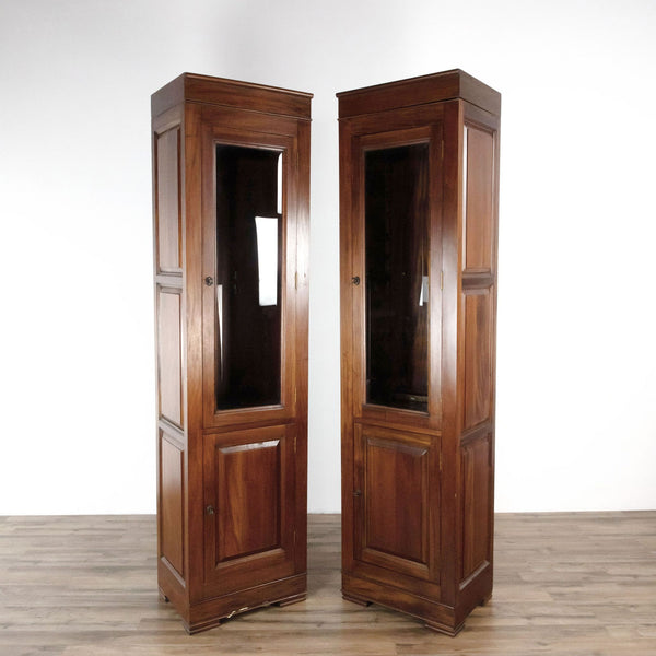 Pair of Wooden Display Cabinet