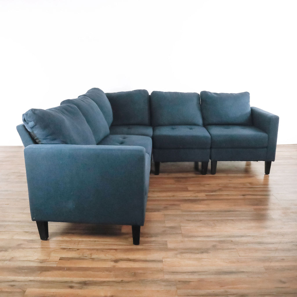 Arneb Reversible Sectional in Dark Blue