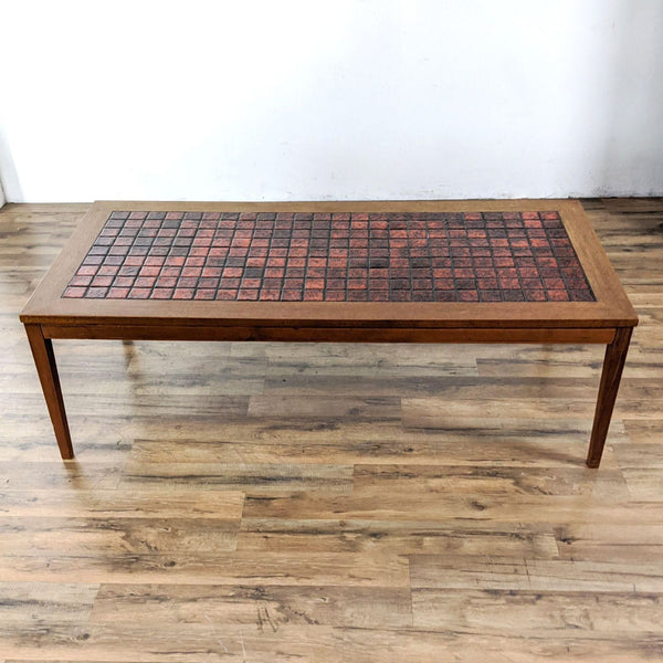 Danish Mid-Century Tile Top Teak Coffee Table