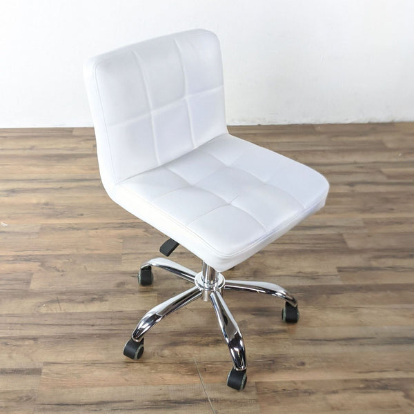 Adjustable Rolling Task Chair with Backrest