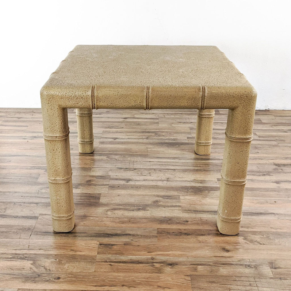 Concrete Faux Bamboo Table
