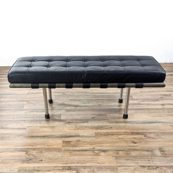 Bench with Black Padded Seat