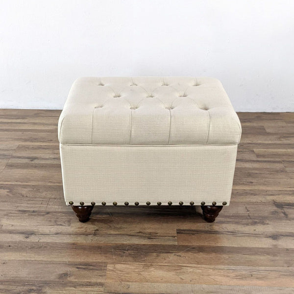 Upholstered Ottoman with Storage