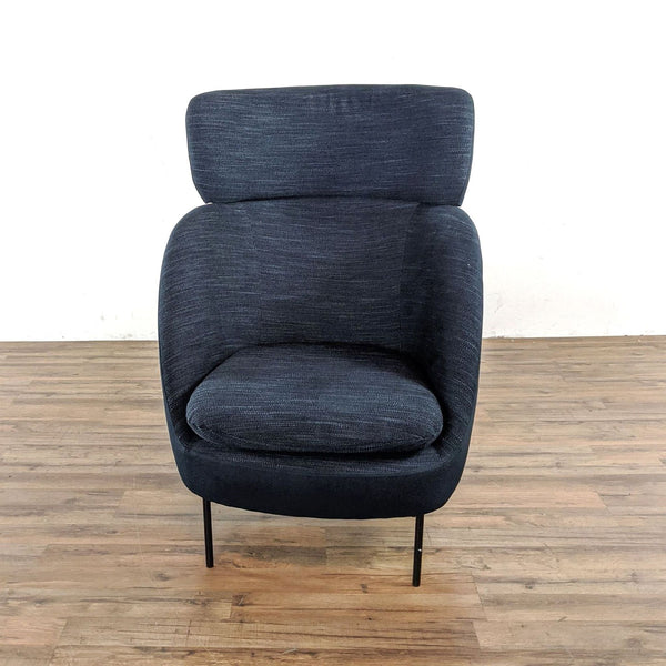 Gray Upholstered Armchair