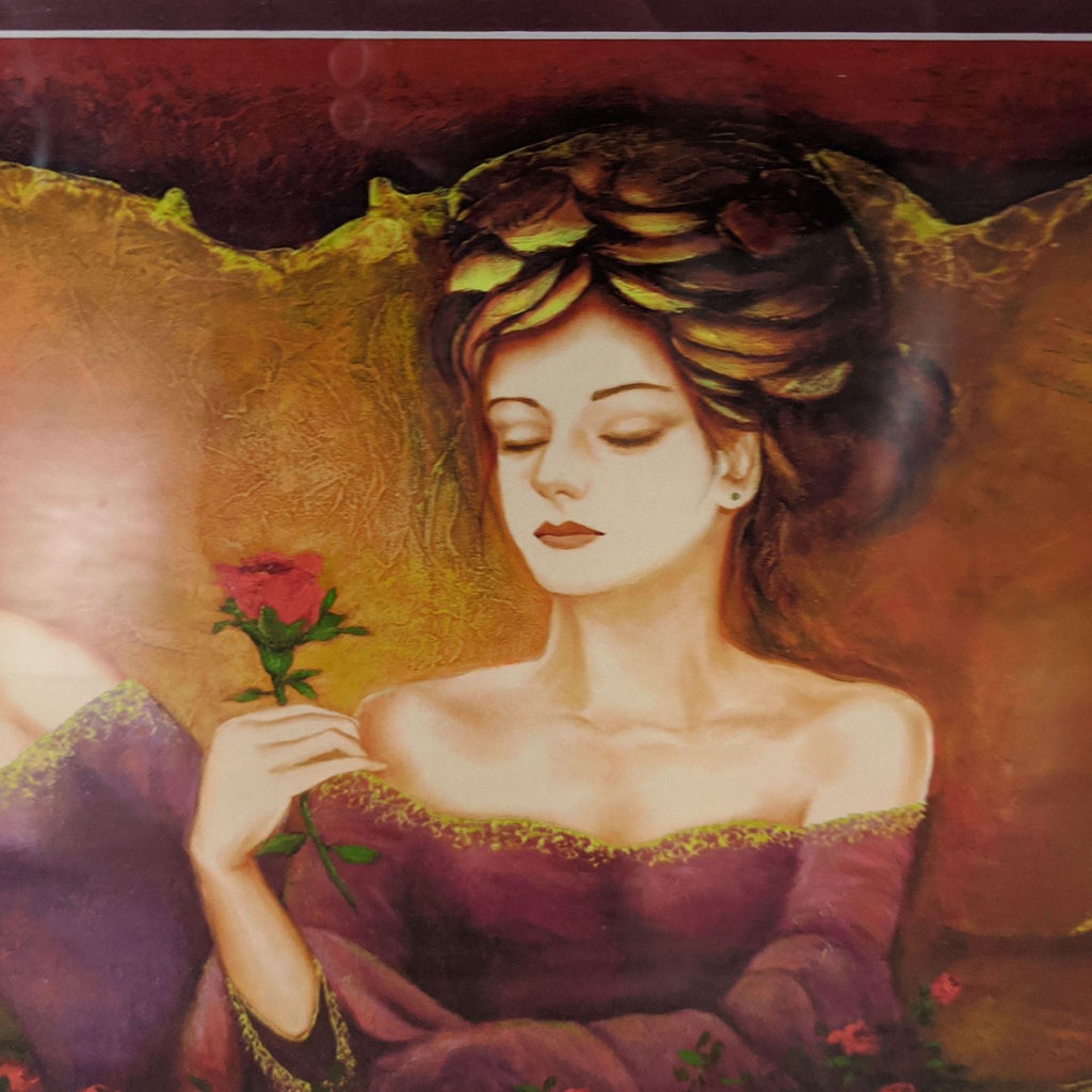 """Sweet Smell Of Roses"" Giclee in Color on Paper by Charles Lee"