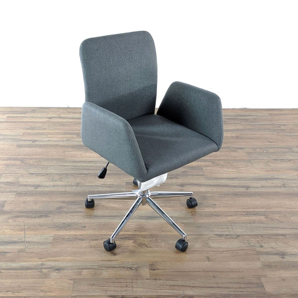 Gray Upholstered Office Chair