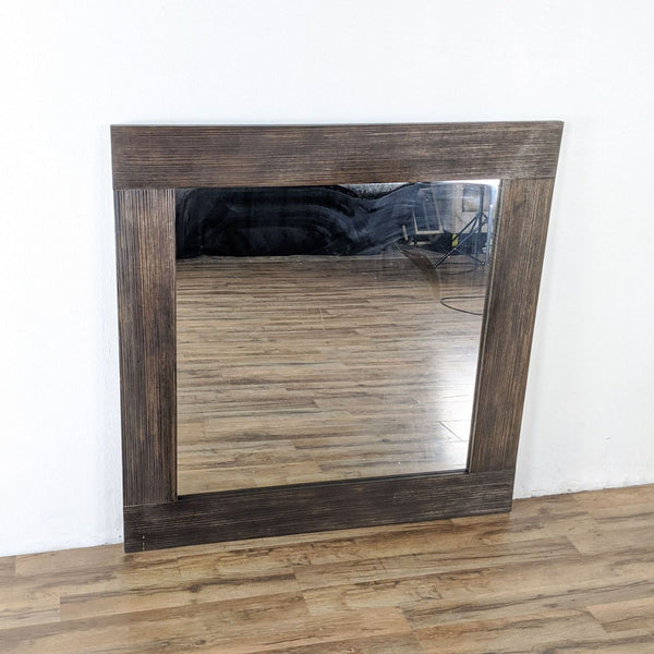 Large Contemporary Wood Framed Mirror
