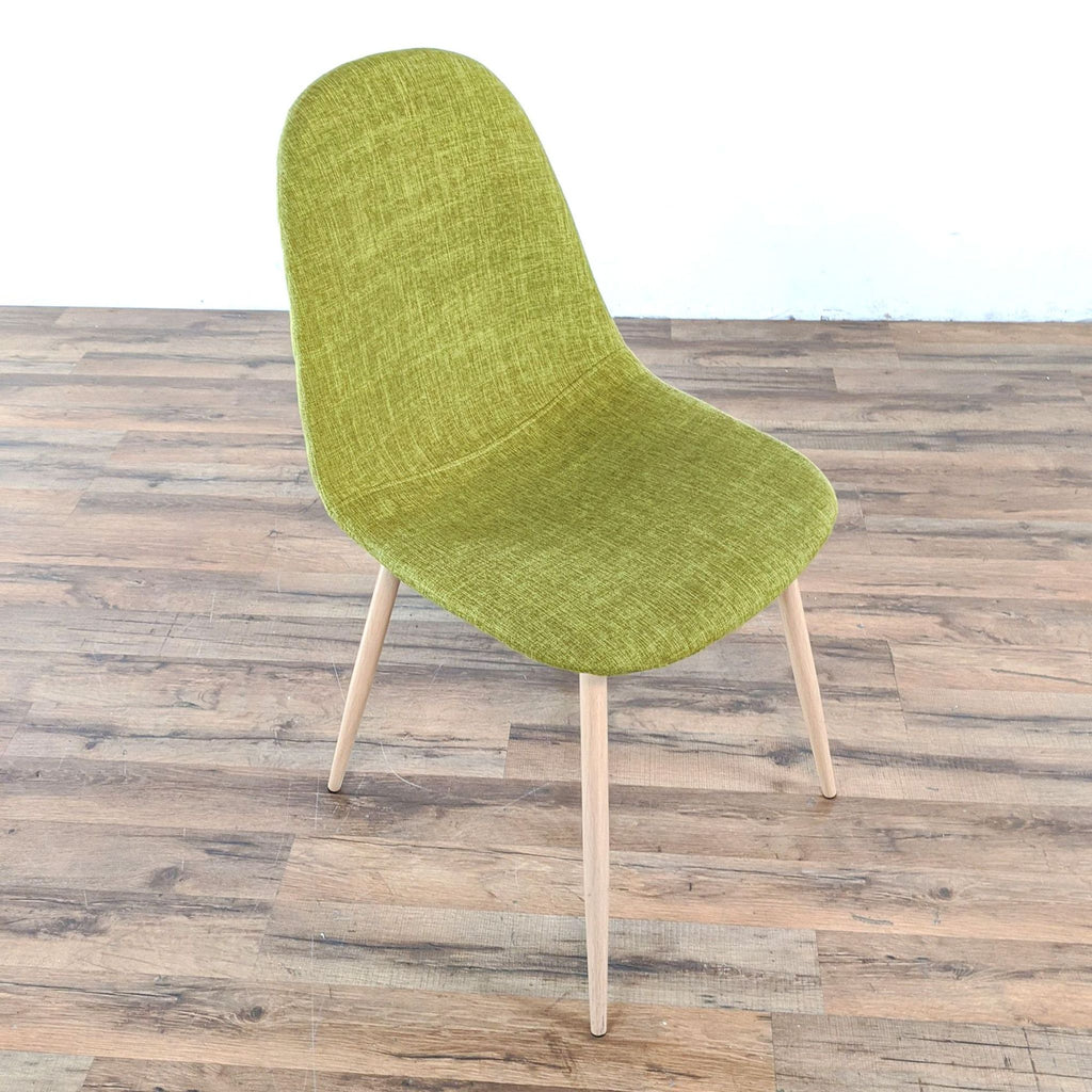 Pair of Green Upholstered Dining Chairs