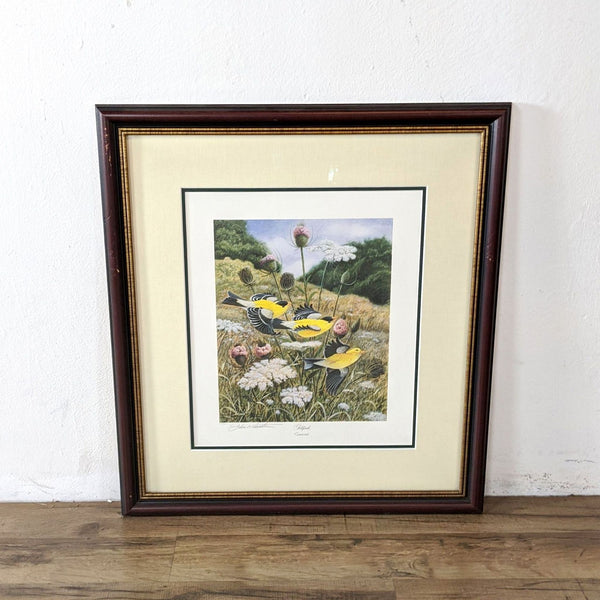 "Framed Print of ""Goldfinch"" by John A. Ruthven"