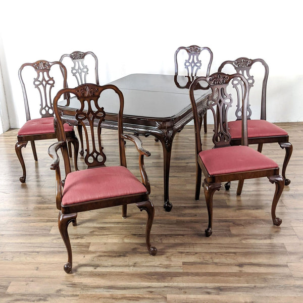 Vintage Berkey & Gay Seven-Piece Wooden Dining Set