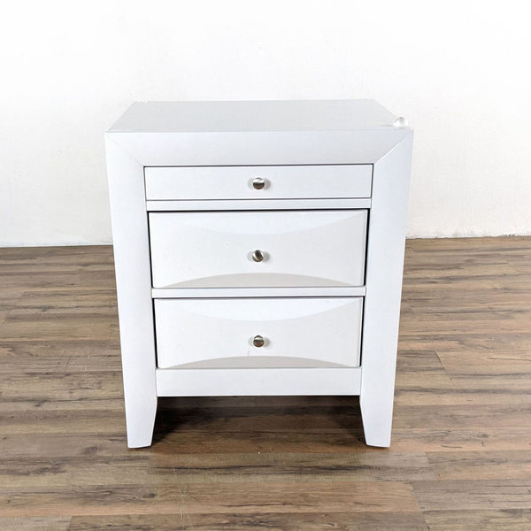 White Wooden Nightstand