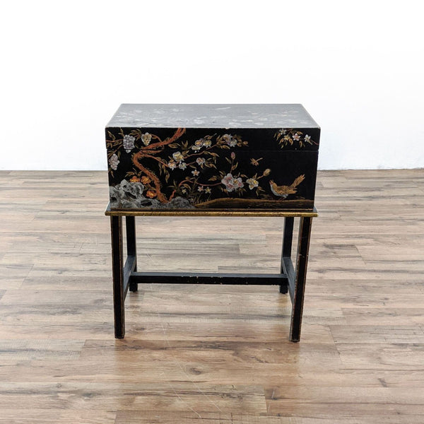 Chinoiserie Storage Chest on Stand
