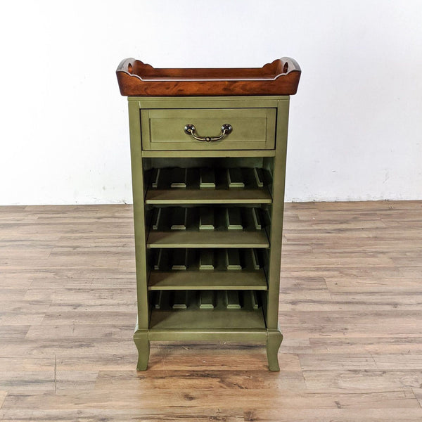 Pier 1 Imports Marchella Wine Rack in Sage with Removable Tray