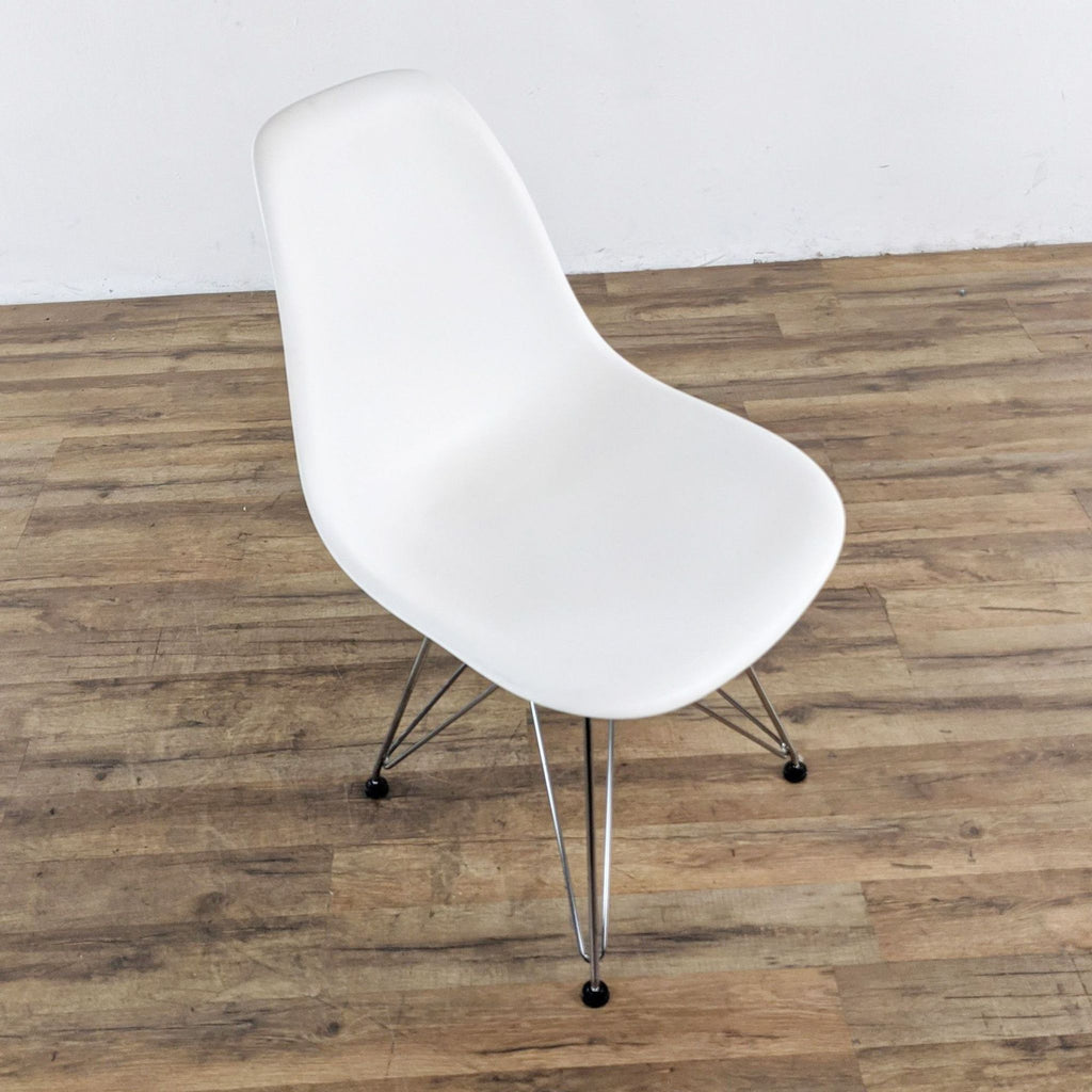 Set of Three Herman Miller Eames White Shell Chairs