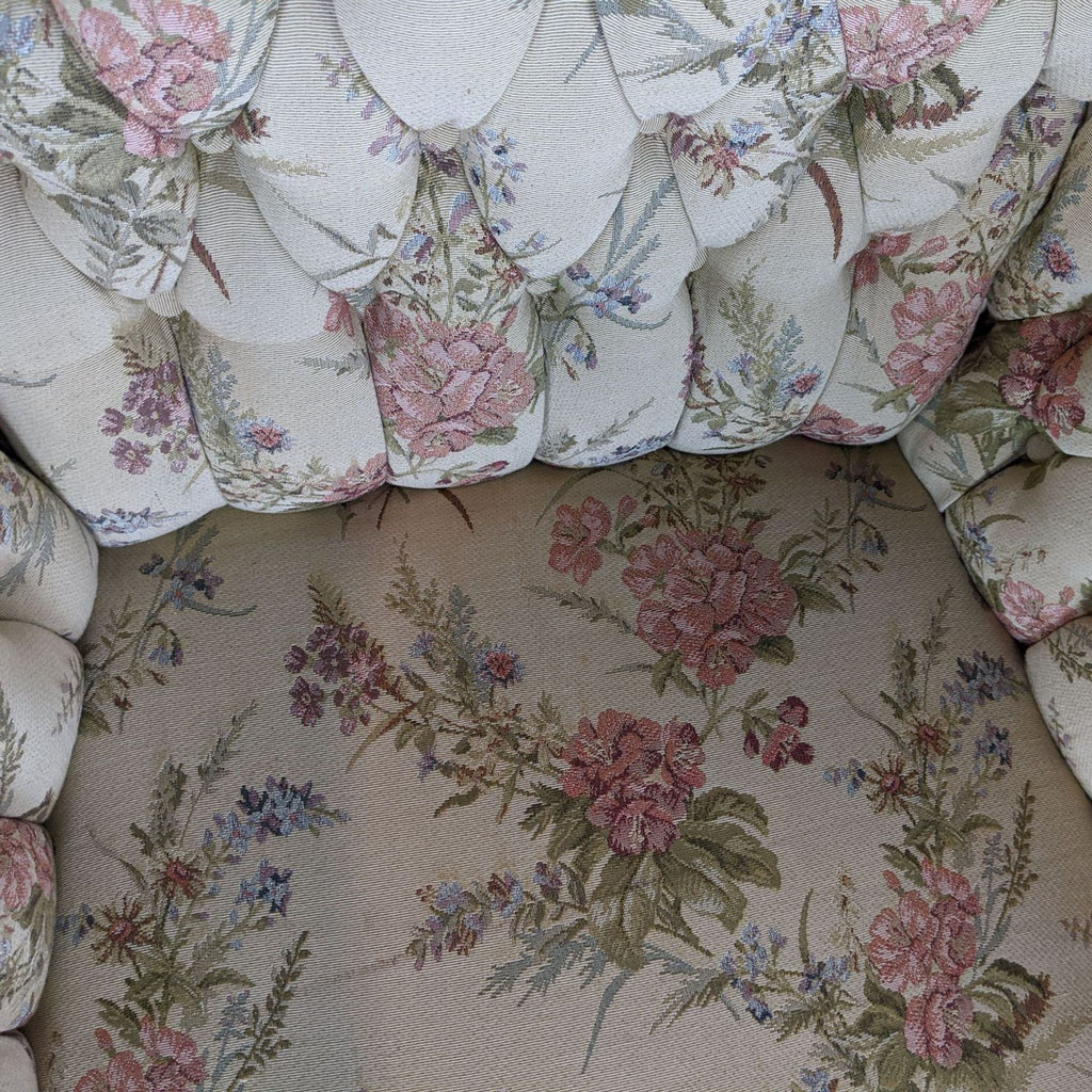 Pair of Vintage Floral Upholstered Armchairs