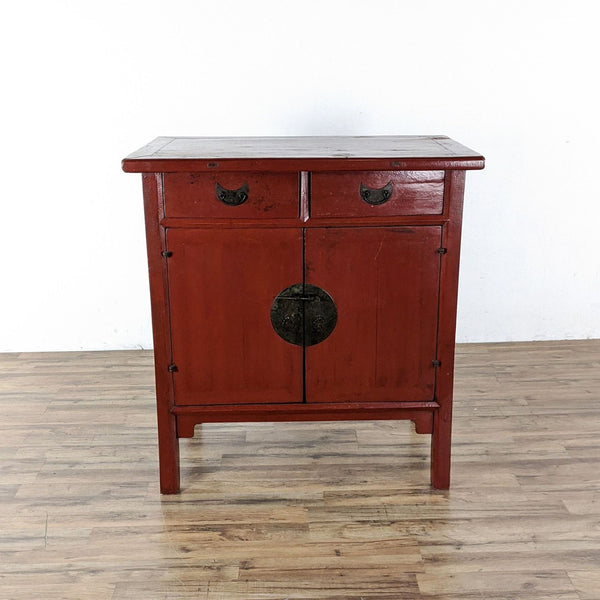 Chinese Red Wood Cabinet