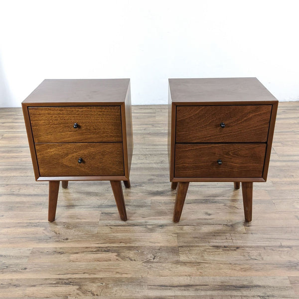 Pair of Alpine Furniture Flynn Mid-Century End Tables