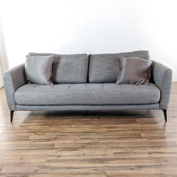 Macy's Gray Upholstered Sofa