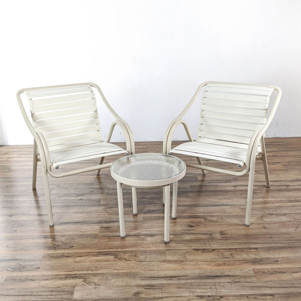 Brown Jordan Outdoor Chairs and Side Table