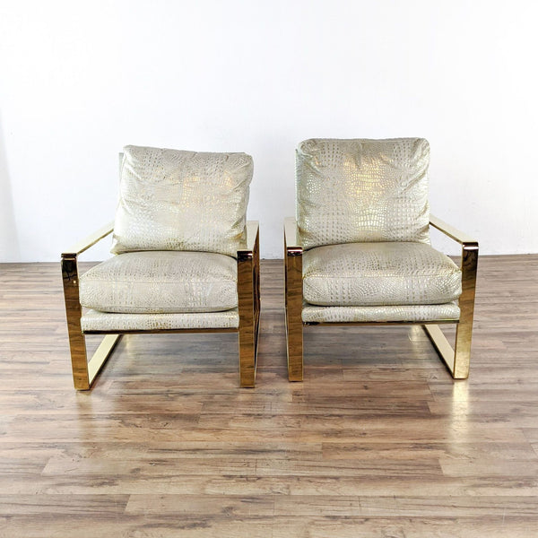 Pair of One Kings Lane Upholstered Armchairs