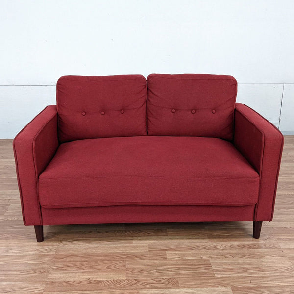 Zinus Red Upholstered Loveseat