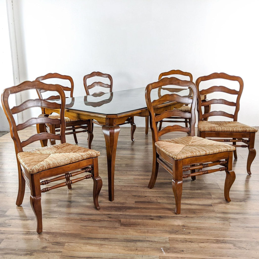 Ballard Designs Seven-Piece Wooden Dining Set