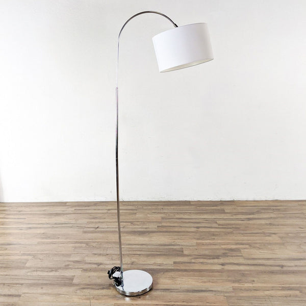 Floor Lamp with White Shade