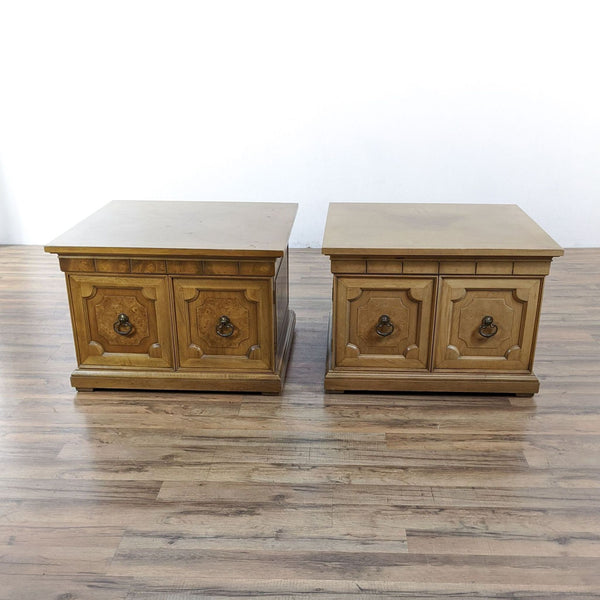 Pair of Vintage Wooden End Tables