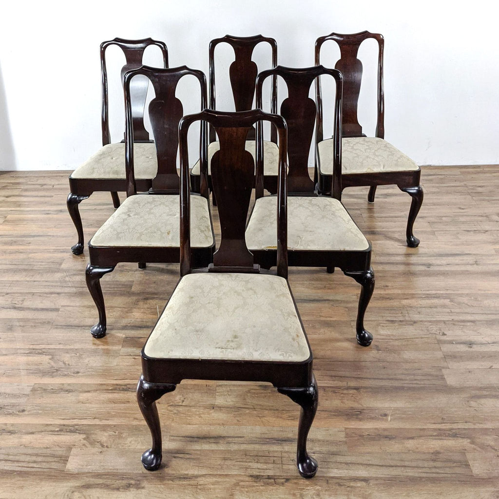 Stickley Set of Six Queen Anne Style Dining Chairs
