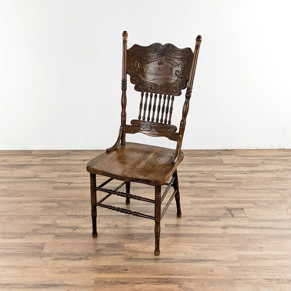 Oak Double Press Back Dining Chair