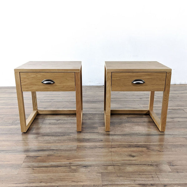 Pair of Yonga Bedside Tables in Natural Oak