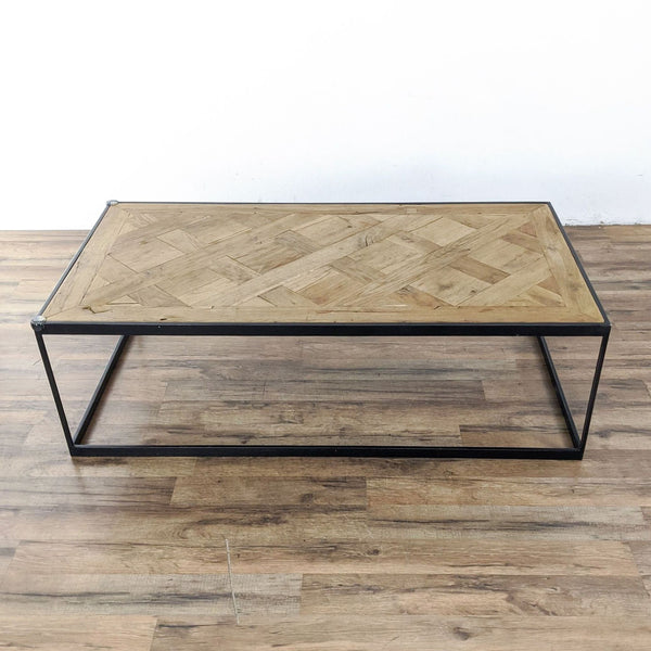 Restoration Hardware Reclaimed Russian Oak  Parquet Coffee Table