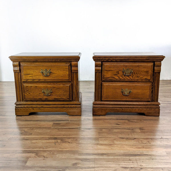 Pair of Oak Nightstands