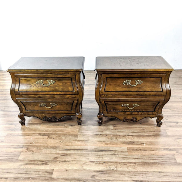 Pair of Vintage Baker Furniture Two Drawer Nightstands