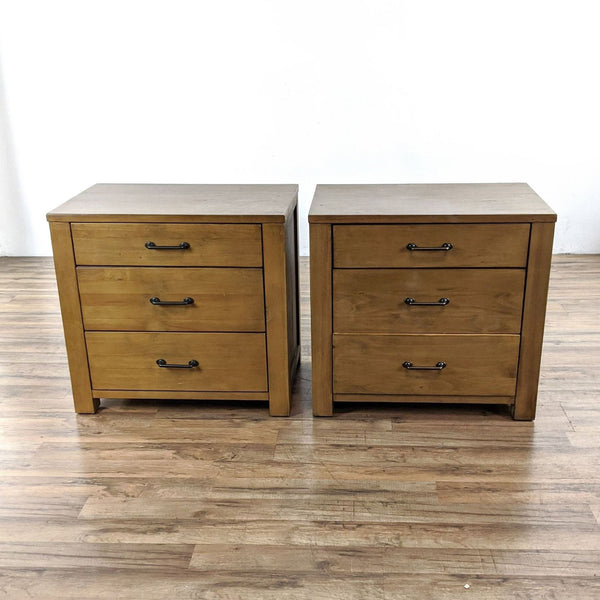 Pair of Abilene Three Drawer Nightstands