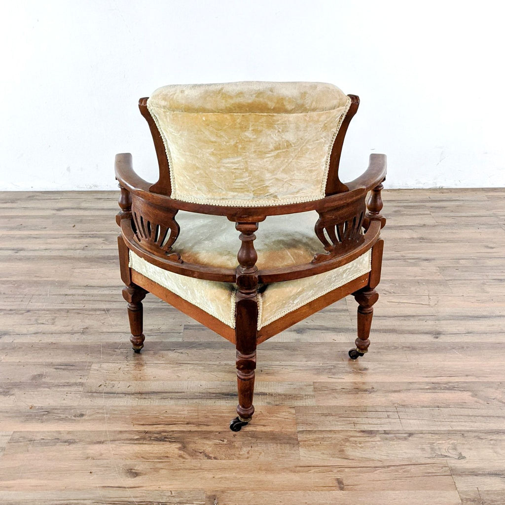 Antique Eastlake Victorian Corner Armchair