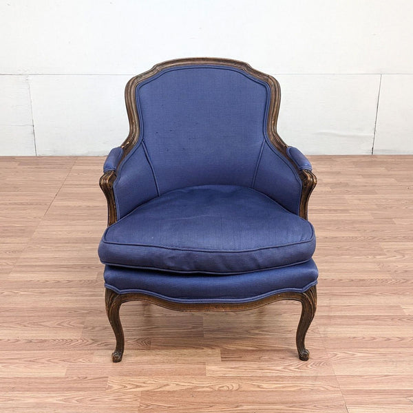 Blue Upholstered Bergere Chair
