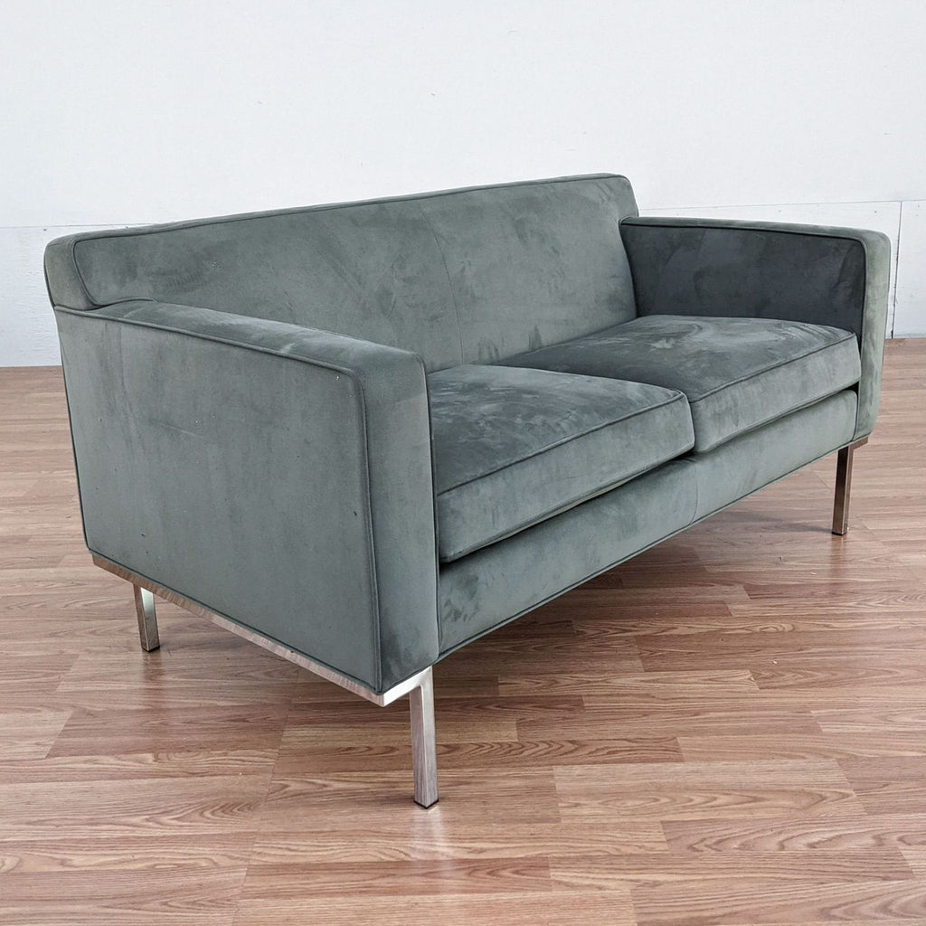 Design Within Reach Gray Upholstered Loveseat